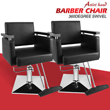 2Pcs Hydraulic Barber Chairs Hair Styling Salon Spa Beauty All Purpose Equipment