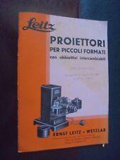 Catalogo LEITZ - PROIETTORI PER PICCOLI FORMATI con obbiettivi ... 1932