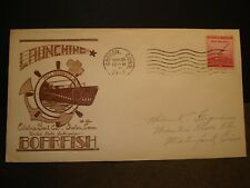 Submarine USS BOARFISH SS-327 Naval Cover 1944 WWII Launch Cachet Groton, CT