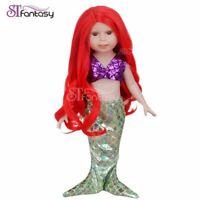 """13'' Costom Doll Wig Fit 18"""" American Girl Doll AG OG Gotz Journey Girl Hair Red"""