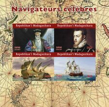 More details for madagascar ships stamps 2020 mnh vasco da gama francis drake 4v impf m/s