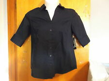 LADY'S NEW GEORGE BLUE SAPPIRE 3/4 SLV  WOVEN  BLOUSE...SIZE..X-LARGE.(16W)