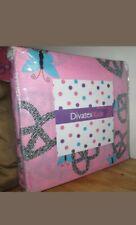 Divatex Twin Sheet Set 3Pc Sweetheart Pink sheets butterflies blue
