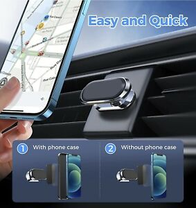UNIVERSAL Magnetic in Car Mobile Phone Holder Mount Rotating 360 PREMIUM QUALITY