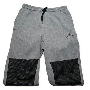 Men's Air Jordan Jumpman Spellout Gray Black Cotton Jogger Sweatpants Size Small
