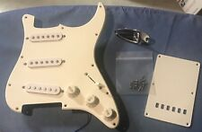 Loaded 2000 Fender Squier Pickguard & Backplate  - White SSS (Indonesia)