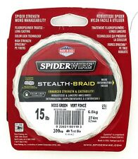 Spiderwire Stealth-Braid 15 Lb Moss Green Braided Line 300 Yds Brand New