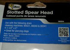 1 COBRA DRAIN CLEANING MACHINE SLOTTED SPEAR HEAD 90021, 90040 & 90041