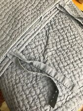 Pottery Barn Blue Twin Quilt, Linen Cotton Blend Sham PB Quilt