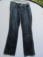 "TRENDY SEXY 7 FOR ALL MANKIND SEVEN BOOTCUT GLITZ JEANS size 29 INSEAM 34""    z9"