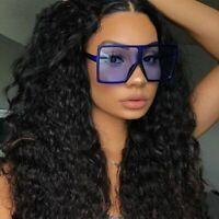 Big Square Sunglasses Women Goggles Oversize Sunnies Shield Summer Eyewear