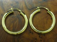 8kt 333 Yellow Gold Hoop Earrings/Studs/Earrings /3,4g / Ø 30,0mm