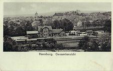 Hornburg bei Wolfenbüttel, Bahnhof, Gleisseite, Panorama, Ak von 1940