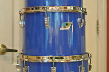 "EXPAND Your DRUM SET Today! RARE 70s LUDWIG USA 13"" BLUE CORTEX CONCERT TOM M651"