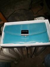 Vintage Kenneth Cole Reaction Wallet Teal / Blue In Original Box