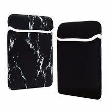 "12-Inch Black Marble Reversible Sleeve Bag for 12"" Macbook /Ultrabook/Chromebook"