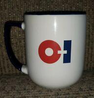 OI Owens Illinois employee coffee cup mug CASTALIA FARMS vtg TOLEDO OHIO FACTORY