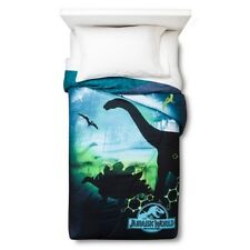 Jurassic World Microfiber Twin Comforter and Plush Blanket New