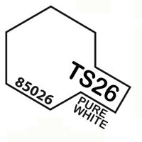 Peinture Spray Pour Plastique 100 Ml. Pure Blanc Ts26 Tamiya