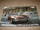 1972 Chevrolet Camaro Dealer Sales-Showroom Brochure, Z28, RS, SS
