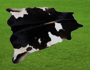 "New Cowhide Rugs Area Cow Skin Leather 15.65 sq.feet (46""x49"") Cow hide U-6700"