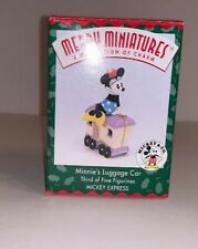 1998 Hallmark Disney Merry Miniatures Minnie's Luggage Car #3