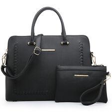 Dasein Women Faux Leather Handbags Briefcase Purse Shoulder Bags with Wallet