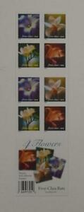 US SCOTT 3457e BOOKLET OF 20 4 FLOWERS STAMPS 34 CENT FACE MNH
