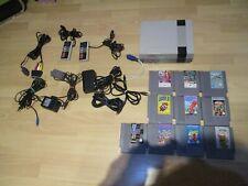 Nintendo Entertainment System NES Mit 2 Controllern und10 Spielen Euro Version.