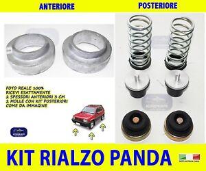 Rialzi Panda 4x4 Spessori Fiat Kit Molle Fiat Anteriore Posteriore rialzo VAN