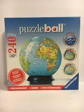 RAVENSBURGER 3D PUZZLE EARTH GLOBE 240 PIECE 115099 INCLUDES PUZZLE SAVER