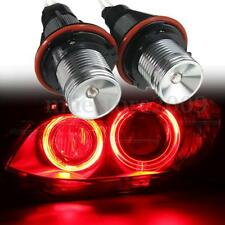 Pair 12W Red CANBUS Angel Eyes Ring LED Lights Bulb DRL For BMW E39 E60 E53 E65