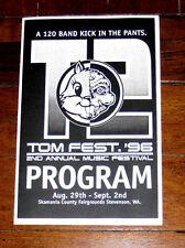 TOM Festival TOMfest 2nd Annual '96 Concert Program Second 1996 T2 POD MxPx RARE