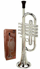Reig Deluxe Trumpet (Silver) Kids Musical Instrument Educational Toys With 4