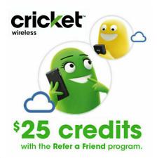Free $25 Cricket Wireless Referral Code