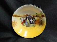 """Royal Doulton Coaching Days, Coach w/ Hanging Animals: Fruit Bowl, 5 1/2"""", 11b"""