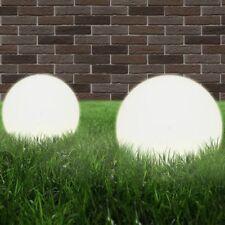 Lampada da giardino a sfera set 2 lampade da esterno E27 20 cm in PMMA