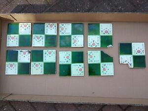 Original Victorian Hearth Tiles