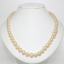 NATURAL PEACH CULTURED PEARL KNOT BETWEEN PEARL ;SILVER 925 CLASPS NECKLACE TPJ
