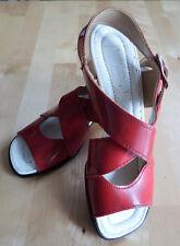 Sandales Vintage Années 60 Rouges Vernies Modèle Betty