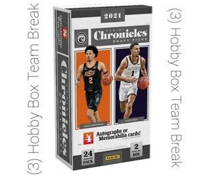 New York Knicks 2021-22 Chronicles Draft Basketball 3 HOBBY BOX BREAK