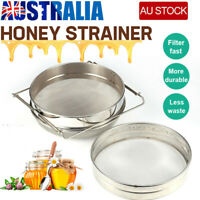 New Honey Strainer Filter Stainless Steel Double Sieve Beekeeping Equipment Kit