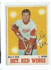 Billy Dea Signed 1970/71 O-Pee-Chee Card #30