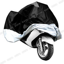 Taille XXXL bache Housse grand Moto Locomotive lourd ex. Harley argente noir
