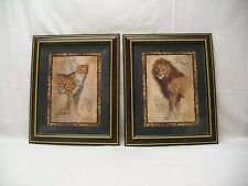 "Home Interior Homco""(Cheetah & Lion)""Feline Companion""Pictures"
