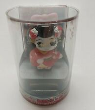 NEW Maiko Solar Bobblehead RED Geisha Standing