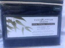 New Navy Stripe Eucalyptus Sheet Set King Size 500 Thread Count