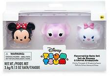 Disney Store Tsum Tsum Flavored Lip Balm Set Gift Box Set Marie Minnie Angel