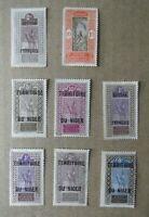 L16.Lote de 8 sellos  Francia colonias sobrecarga Niger variados