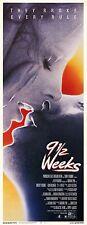 9 1/2 WEEKS Movie POSTER 14x36 Insert Mickey Rourke Kim Basinger Margaret